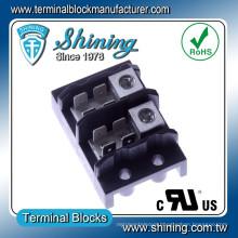 TGP-050-02A 600V 50A 2 Pole LED Power Distribution Terminal Block