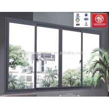 Horizontale Schiebe Glas Fenster mit Aluminium Alloy Frame Guangzhou Lieferanten