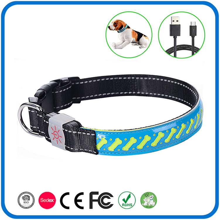 Led Uppladdningsbara Lighted Dog Cat Collars