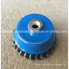 4inch de alambre de acero Twist Knot Bowl Copa cepillos (YY-586)