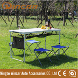 Foldable FOLD-UP picnic MDF camping table stools for BBQ