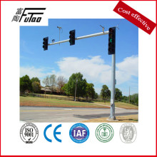 Single or double arm traffic signal poles
