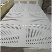 Gypsum isolation board acoustic perforated gypsum board