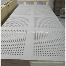 Placa de isolamento de gesso acústico placa de gesso perfurada