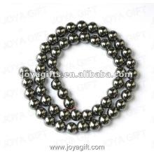"""7MM Loose Hematite Round Beads 16"""""""