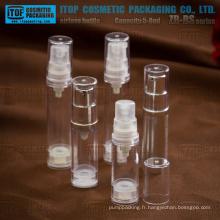 ZB-BS série 5ml 8ml petits échantillons comme / flacons airless minis en plastique de SAN
