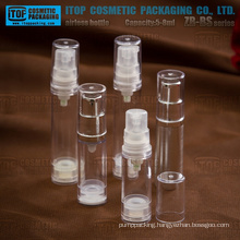 ZB-BS Series 5ml 8ml small samples AS/SAN plastic mini airless bottles