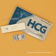 Wegwerf HCG Urin-Schwangerschaftstest-Streifen Casstte
