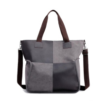 2021 New Wholesale Canvas Duffle Bag Business Overnight Weekend Bag Durable Leather Travel Duffel Bag