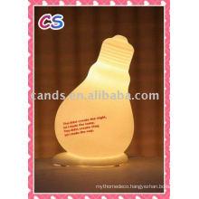 Hot Decoration Bulb Design Porcelain Novelty Lamp