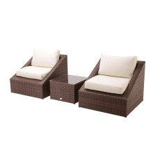 Top for Garden Table And Chairs 3pc steel rattan balcony sofa set export to Honduras Suppliers