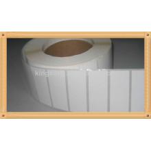 etiqueta en blanco de transferencia de calor con eco amigable