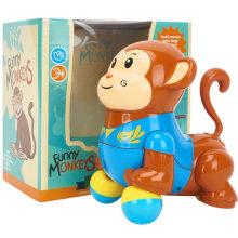 Juguete divertido eléctrico del mono de la historieta