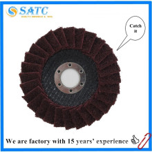 Non-woven cloth Reinforced resinoid flap disc for surface grinding About