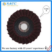 Pano não tecido Reinforced resinoid flap disc para moagem de superfície