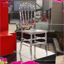 Chaises royales en cristal pour fête