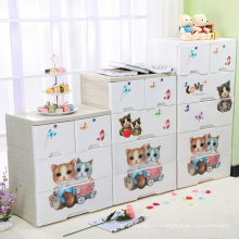 Cartoon Design Printing Plastic Storage Cabinet (FL-156-2)
