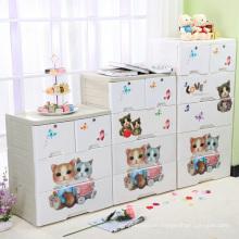 Cartoon Design Printing Plastic Storage Cabinet (FL-156-2)