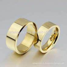 Anillos de bodas chinos tradicionales, moldes de anillo de dedo de oro sin piedra
