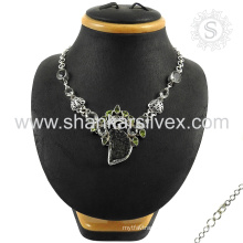 Exclusive necklace 925 sterling multi gemstone silver jewelry factory wholesale handmade jewellery