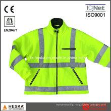 En20471 High Visibility Winter Fleece Jacket