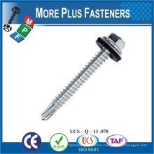 Made in Taiwan Aluminum hexagon head self drilling screw