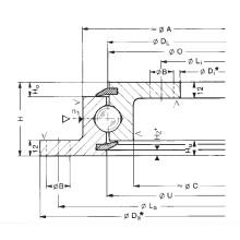 Rothe Erde Kein Getriebe Flansch-Schwenkringlager (230.20.0400.503)