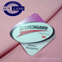 3M Scotchgard control de la humedad acabado de la mancha 4 grado que absorbe 100% poliéster tejido de malla de punto