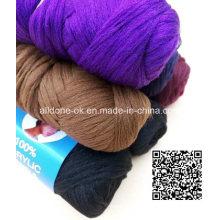 Poliéster de acrílico que teje a mano el hilado del pelo de la peluca de la lana de Nigeria