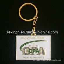 Porte-clés plaqué or fait sur commande de cadeaux créatifs