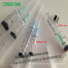 Disposable Safety Sringe, Safety Syringe with Retractable Needle