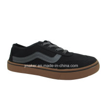 Zapatos de inyección de skate clásico de lona de China Factory Men (J2608-M)