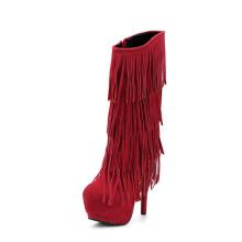 Botas de tacón alto sobrepuestas para mujer de New Style Fashion (Y 25)