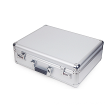 Exquisite Multipurpose Silver Aluminum Alloy Instrument Case