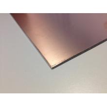 Feuille de placage en cuivre d'aluminium