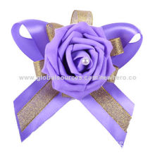 Hot-selling Purple Artificial Rose Bracelets for Bride, Suitable for Wedding and Engagements