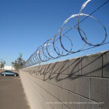 Schwere galvanisierte Razor Stacheldraht / Concertina Razor Wire Fence