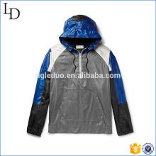 Drawstring capuche sport veste softshell matériel extérieur veste de course