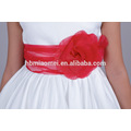2017 New Arrival Baby Girls Pure White With Red Bow-knot Dress Baby Frock Design Pictures Baby Girl Wedding Dress