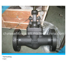 Hand Wheel Carbon Steel A105n Flange API Forged Globe Valve