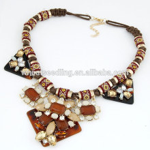 bohemian vintage temperament ethnic necklace jewelry with gem