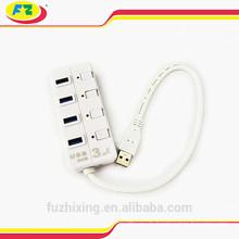 4 Port USB Hub, 3.0 USB Hub Unterstützung 5Gbps
