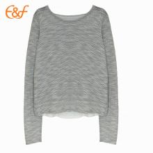 Split Back Style Fashion Sweater Designs para senhoras