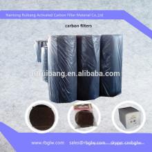 fibra de carvão ativa não tecida ativada do carvão vegetal ativada do carbono para a recuperação do solvente / tratamento da água / limpeza do ar / adiabatic