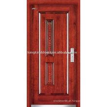 Porta blindada de aço porta de madeira aço exterior (JKD-236) para projeto de segurança forte