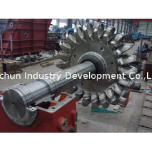 0.55 - 2.3m Pelton Runner And Shaft, High Head Pelton Hydro Turbine With Multi Nozzles