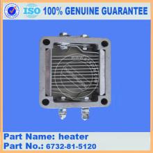 aquecedor 6732-81-5120 escavadeira peças de motor komatsu
