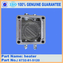heater 6732-81-5120 excavator komatsu engine parts