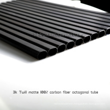 Real 3K twill matte carbon fiber tubes for customized drone, support drill hole on carbon fiber tube