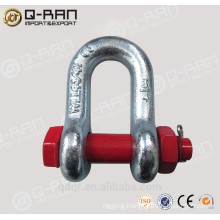 Galvanized Bolt type anchor shackle 2150 hardware rigging hardwear